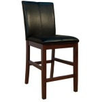 Parson Chairs Curved Back Stool - Black