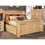 Amish Highlands Queen Arch Panel Bed with Storage