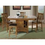 Laurelhurst Wine Storage Gather Height Table - Rustic Oak