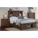 Sun Valley RT 4 PC King Rotating Storage Bedroom Set