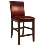 Parson Chairs Curved Back Stool - Red