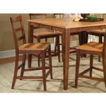 Bristol Point Ladderback Counter Stool - Honey/Chestnut