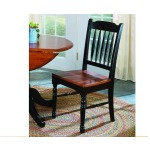 British Isles Slatback Side Chair - Oak/Black