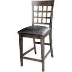 Gridback Upholstered Barstool