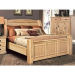 Amish Highlands King Arch Panel Bed