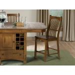 Laurelhurst Slatback Counter Stool - Rustic Oak