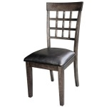 Bristol Point - Warm Gray Gridback Upholstered Side Chair
