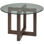 48″ ROUND GLASS TABLE