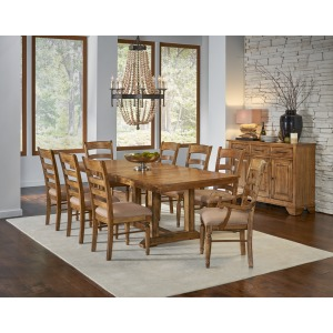 AAM BEN 7Pc Trestle Dining Set