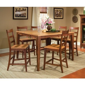 Bristol Point Butterfly Gathering Height Table - Honey/Chestnut
