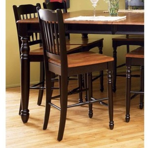 British Isles Slatback Barstool - Honey/Espresso