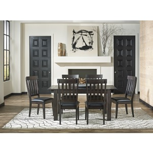 MARIPOSA GRAY TABLE AND 6 CHAIRS