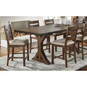 7 PC Gathering Trestle Dining Set