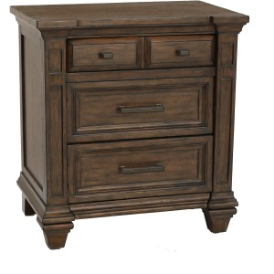 Gallatin 3 Drawer Nightstand