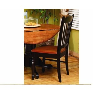 British Isles Slatback Side Chair - Honey/Espresso