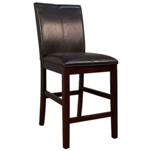 Parson Chairs Curved Back Stool - Brown
