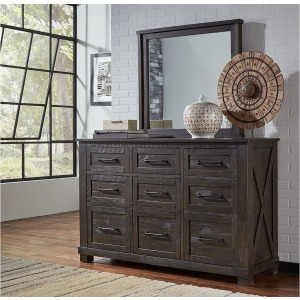 Sun Valley 9 Drawer Dresser & Mirror