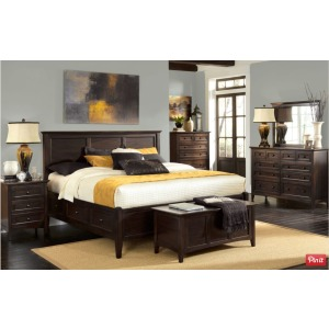 Westlake Dark Mahogany Bedroom Set