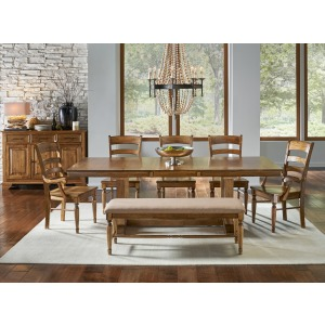 Bennett 6 PC Trestle Dining Set