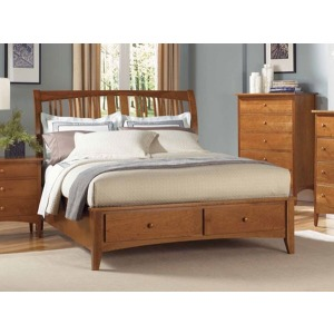 Cherry Garden E. King Sleigh Bed with Storage