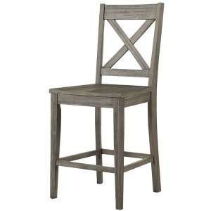 HURON GREY X-BACK STOOL