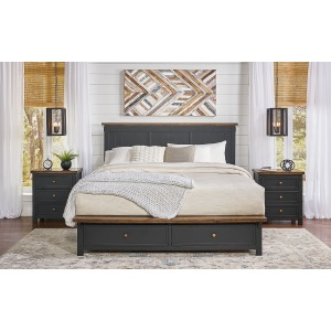 Stormy Ridge King Storage Bed