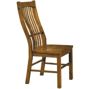 Laurelhurst Slatback Side Chair - Rustic Oak
