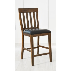 Mariposa Slatback Uph Counter Stool