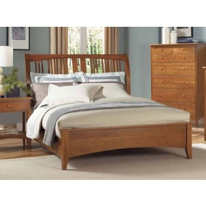 Cherry Garden Queen Sleigh Bed