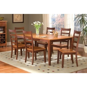 Bristol Point Butterfly Leg Table - Honey/Chestnut