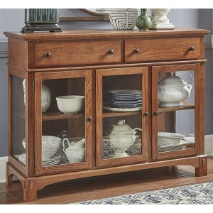 Laurelhurst 3 Door Server - Mission Oak