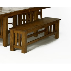 Laurelhurst Rustic Oak Bench
