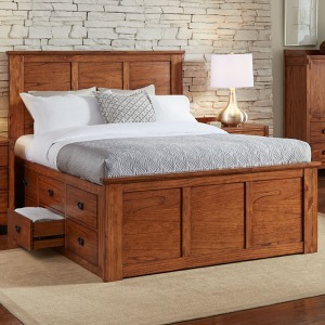Mission Hill Queen Captain Storage Bed