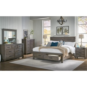 Glacier Point 4 PC Queen Storage Bedroom Set