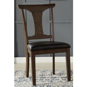 T-Back Side Chair w/Upholstered Seat