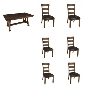 Ozark 7PC Trestle Dining Set