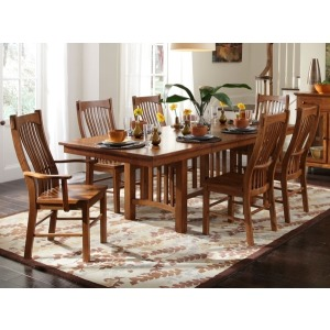 Laurelhurst Trestle Table - Mission Oak