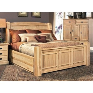 Amish Highlands King Arch Panel Bed with Storage