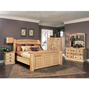 Amish Highlands Ek Arch Panel Bed