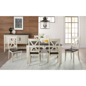 HURON COCOA CHALK TABLE & 6 CHAIRS