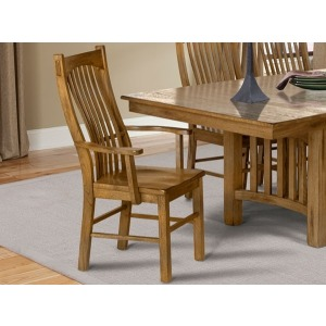 Laurelhurst Slatback Arm Chair - Rustic Oak