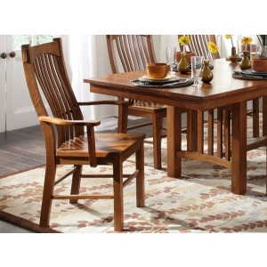 Laurelhurst Slat Arm Chair - Mission Oak
