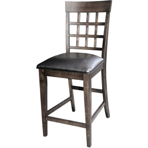Bristol Point Gridbk Counter Stool Uph Seat