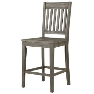 HURON GREY SLATBACK STOOL