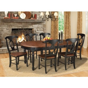 British Isles Oval Leg Table - Oak/Black