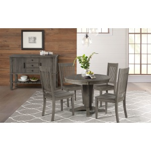 HURON GREY TABLE & 4 CHAIRS