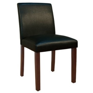 Parson Chairs Low Back Chair - Black