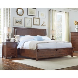 Sodo Queen Panel Storage Bed