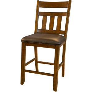 Mason Slatback Uph Counter Stool