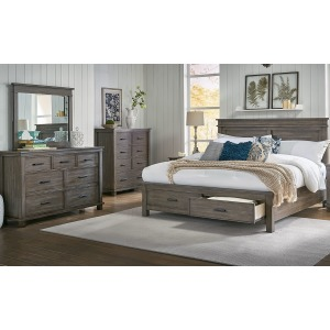 Glacier Point 3 PC King Storage Bedroom Set